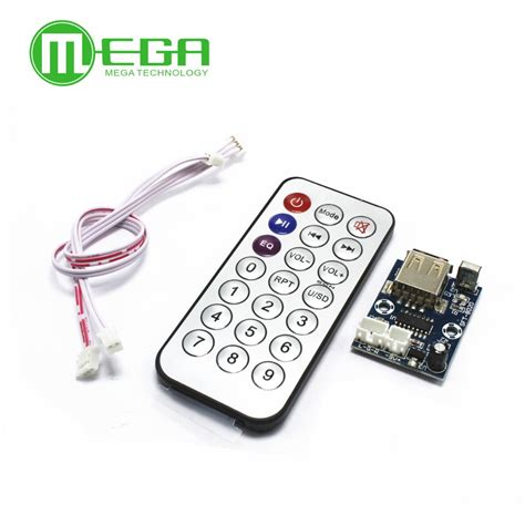 Remote Mp3 mini micro lossless decoder wav mp3 decoding board 12v player usb sound card mp3 board