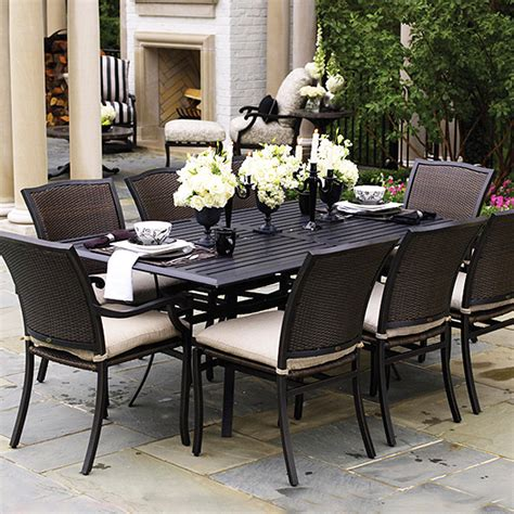 outdoor dining patio furniture plaza dining wicker patio furniture by summer classics