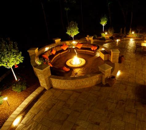 Twilight Landscape Lighting Some Ways Of Outdoor Lights For Trees House Lighting