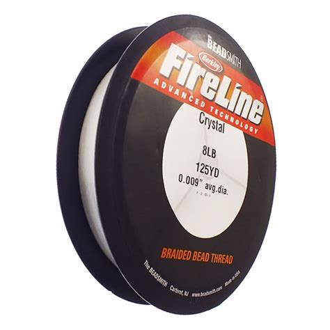 fireline beading thread 8lb clear 0 23mm 009in