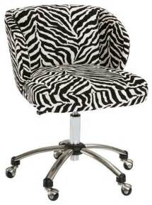 Desk Chair Zebra Print Zebra Wingback Desk Chair Eclectic Office Chairs By