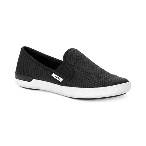 calvin klein sneakers mens lyst calvin klein womens tacie sneakers in black for