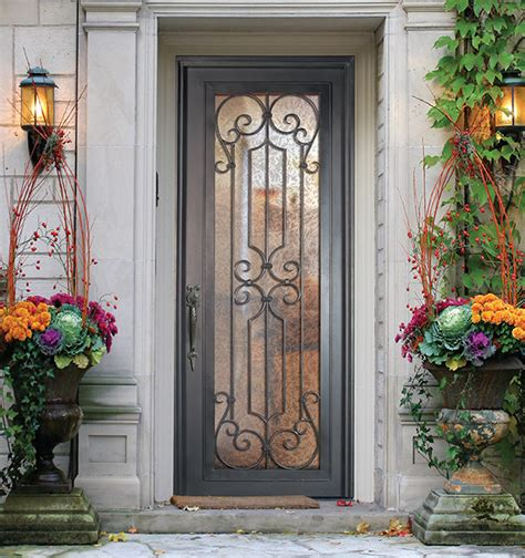 Iron And Glass Front Doors The Companies Glass Craft Wrought Iron Steel Exterior Doors