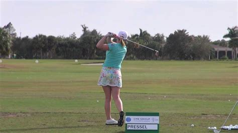 Golf Swing 2012 Morgan Pressel Iron Driver Practice