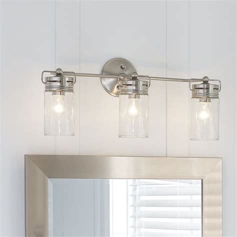brushed nickel bathroom lighting fixtures 25 best ideas about bathroom vanity lighting on