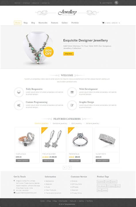 Jewelry Wordpress Themes Free Premium Templates Jewellery Template Free