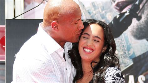 dwayne johnson the rock daughter dwayne johnson wife daughters and kids