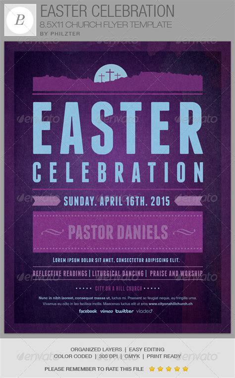 celebration flyer template easter celebration church flyer template graphicriver