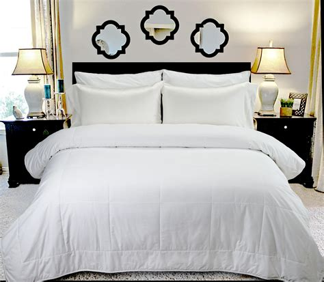 plain white comforter com highland feather manufacturing 36 ounce