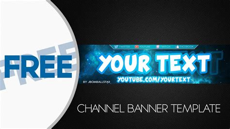 Speedart Free Hd Youtube Channel Banner Template Youtube Channel Banner Template
