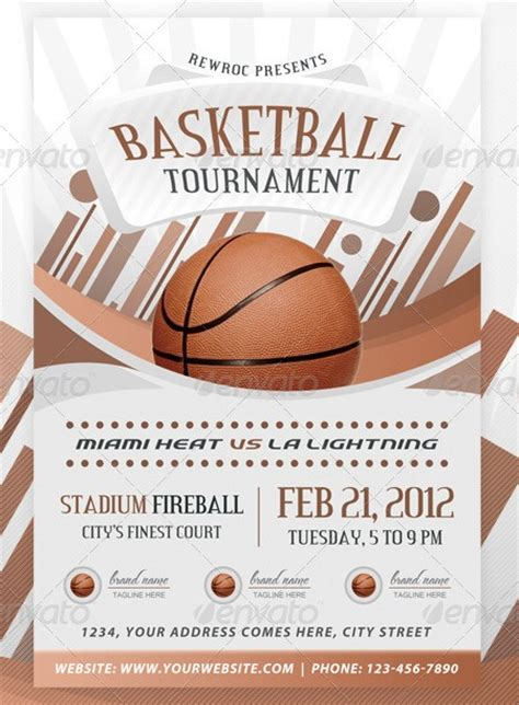 Sports Event Flyer Template 20 electrifying print ready sports flyer templates
