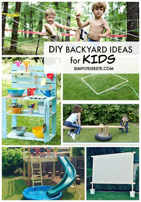 backyard activities for kids diy backyard ideas for kids simplykierste com