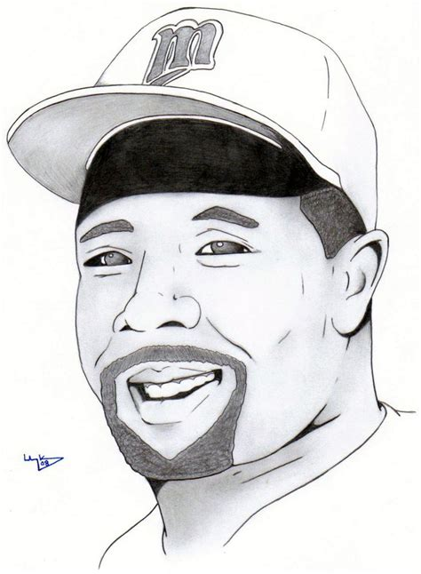 Drawing 2 Player by Kirby Puckett Pencil Drawing My Favorite 80 S Athletes