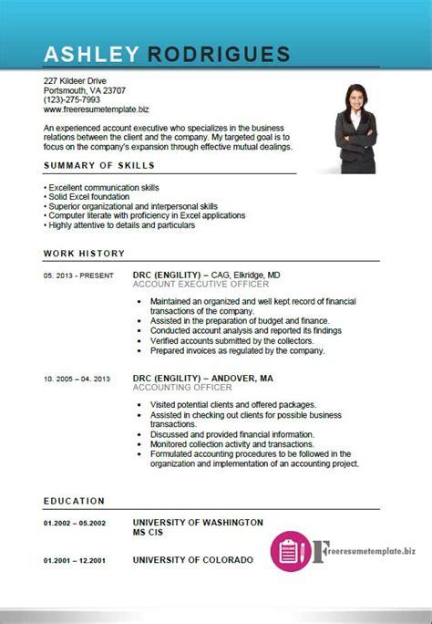 executive resume templates resume templates