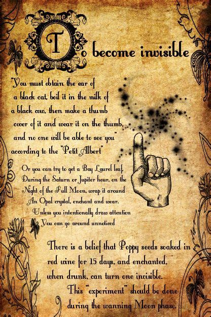 How Do You Spell Calendar In To Become Invisible Spell Printable Spell Pages
