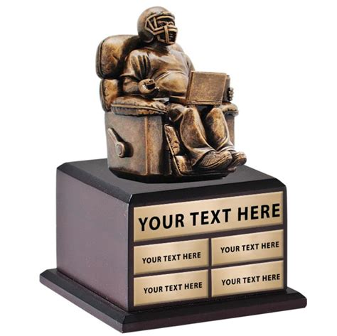 fantasy football armchair trophy perpetual trophies fantasy football armchair quarter back perpetual base trophy