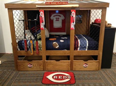 baseball bed baseball dugout bedroom designs we thought these rope