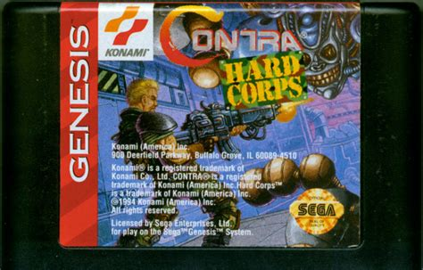 contra genesis contra corps 1994 genesis box cover mobygames