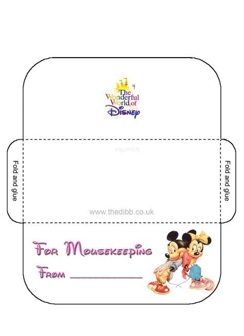 printable housekeeping tip envelopes mousekeeping envelopes thedibb