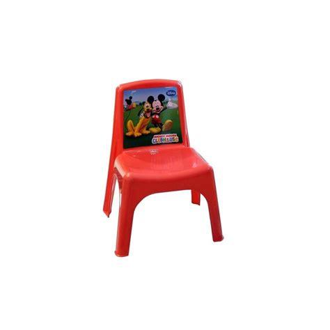 Chaise De Couleur En Plastique by 084113 Chaise Enfant Bildo En Plastique De Couleur Mickey