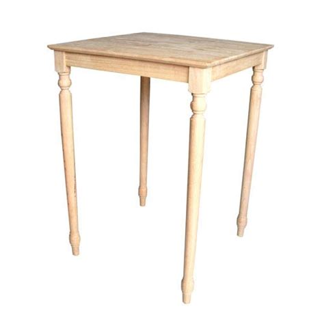 42 inch height dining table unfinished 42 inch square bar height table international