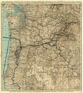 map of the oregon railroad navigation company and the