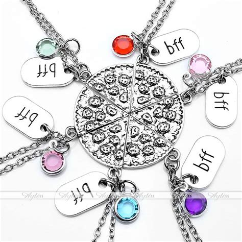 Does Ebay Accept Visa Gift Cards - jewelry set bff best friend pizza crystal pendant
