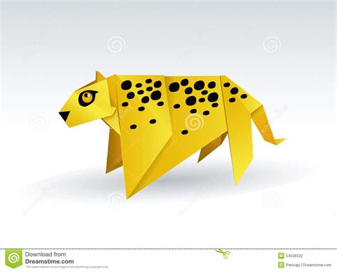 Origami Leopard - leopard origami stock vector image of illustration chita