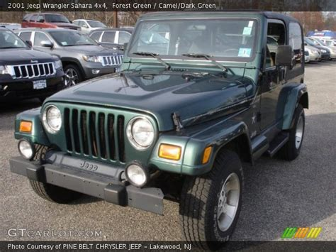 2001 Green Jeep Forest Green 2001 Jeep Wrangler 4x4 Camel