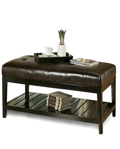abbyson winslow tufted leather coffee table ottoman ab