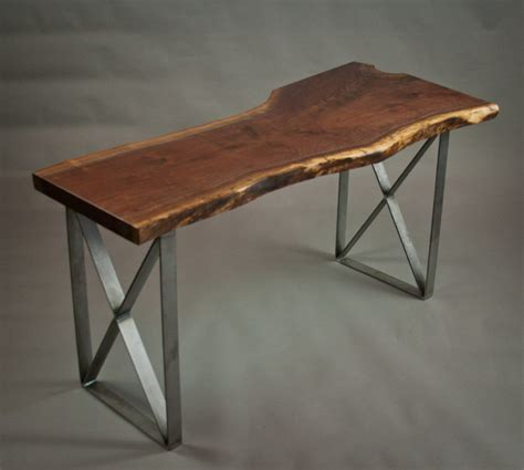 live edge computer desk your office more eco with a reclaimed wood desk