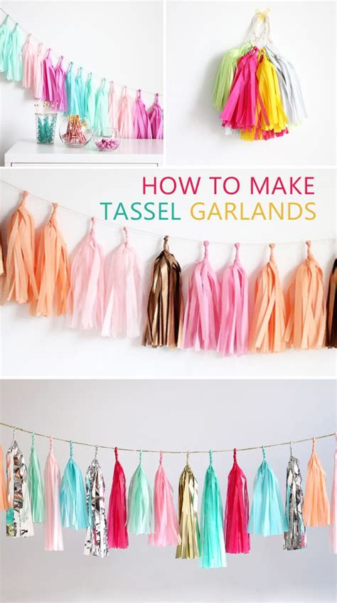How To Make Tissue Paper Garland - 25 best ideas about tissue paper garlands on