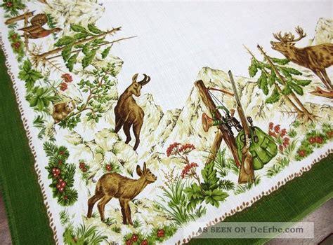 tischdecken mit jagdmotiven tischdecke jagd hirsch tier und jagdmotive 127x151cm viskose