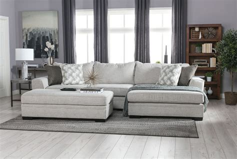 Living Spaces Sectional by Delano 2 Sectional W Raf Chaise Living Spaces