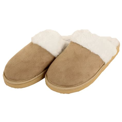 cozy house slippers womens slippers faux suede fur cozy fuzzy house