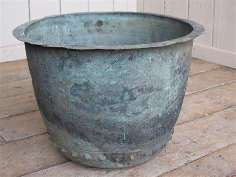 antique victorian copper garden planter  plant pot