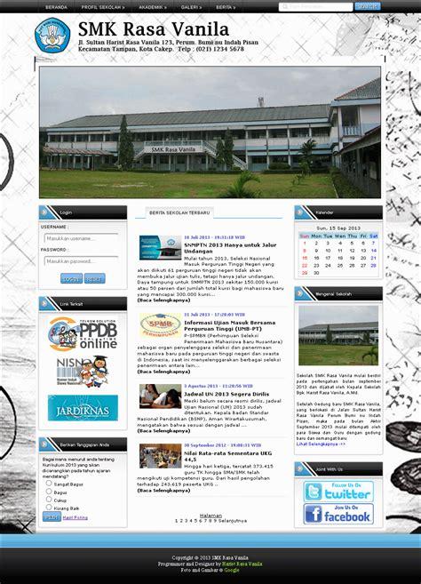 contoh layout web hotel download contoh kodingan design website sma smk atau