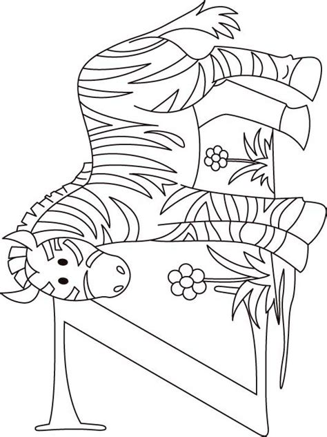 zebra z coloring page z for zebra coloring page for kids download free z for