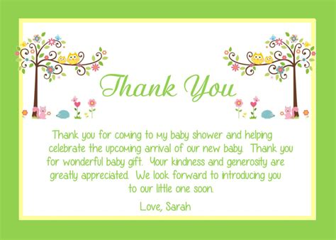 thank you note template baby shower baby shower thank you card wording ideas all things baby