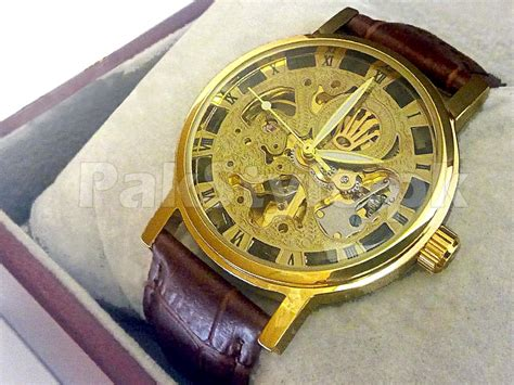 Rolex Skeleton Gold s skeleton automatic price in pakistan m004369