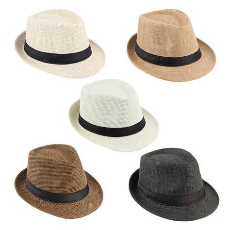 Summer Hat unisex summer trilby fedora straw panama wide brim