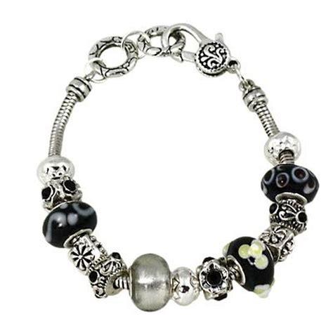 pandora bracelet black murano glass bead sliding bracelet pandora