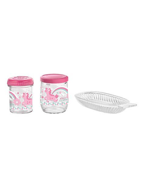 Set Tosca tosca set decorated glass baby feeding set renga