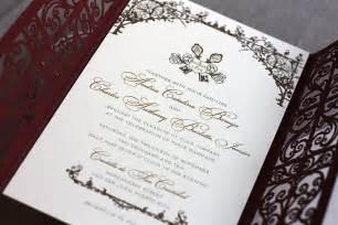 Spanish Wedding Invitations Spanish Style Laser Cut Invitations