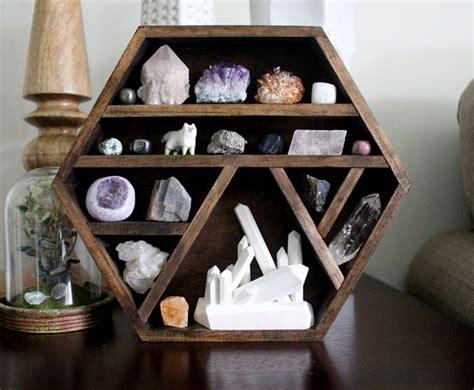 Handmade Wood Shelves - one of a handmade hexagon wood wall shelf with