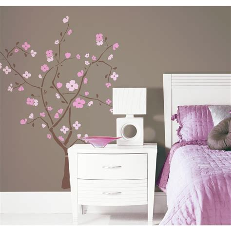 amazon bedroom accessories roommates rmk1555gm spring blossom peel stick giant wall