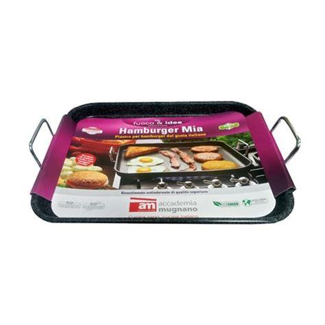 piastra per cucinare hamburger piastra hamburger rettangolare 42x33 cm antiaderente e