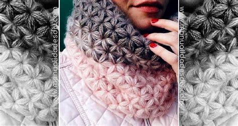 puntos de crochet estrella cuello con punto estrella a crochet diagrama y tutorial