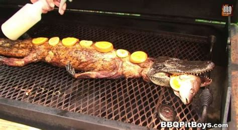 things to cook a pit crawfish stuffed grilled alligator bbq