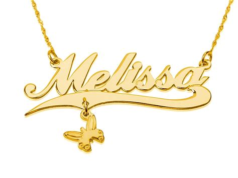 personalized 14k gold name necklace pendant